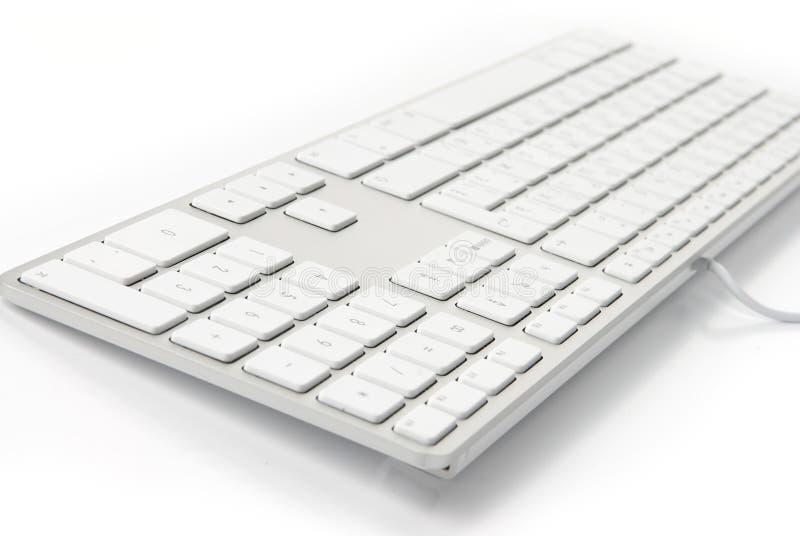 klawiaturowy nowożytny biel obraz stock