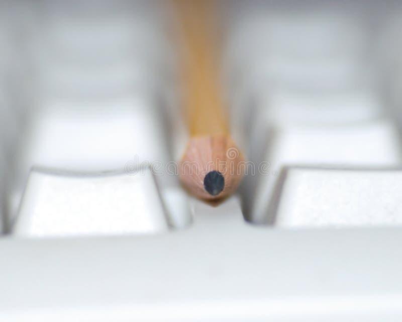 klawiaturowy ołówek obraz stock