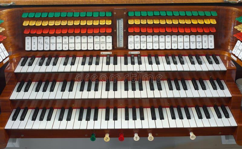 klawiaturowy organ zdjęcia royalty free