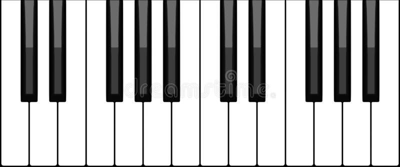 klawiaturowy pianino royalty ilustracja
