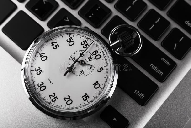 klawiaturowy stopwatch zdjęcie stock