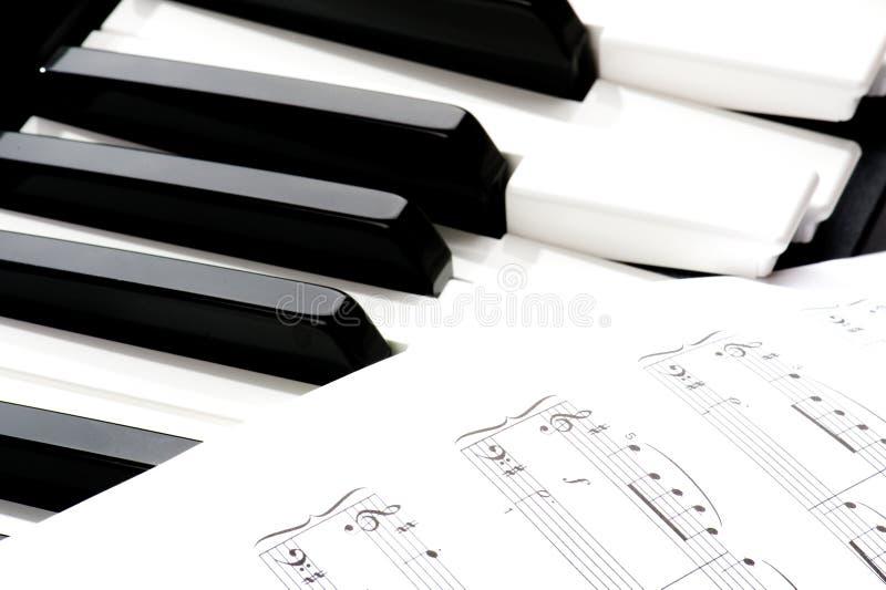 klawiaturowy zamknięty klawiaturowy pianino obraz stock