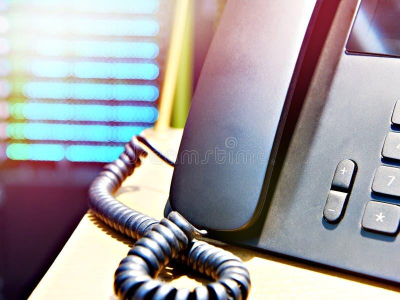 klawiatury biura szczegółów słuchawkę telefonu zdjęcie stock