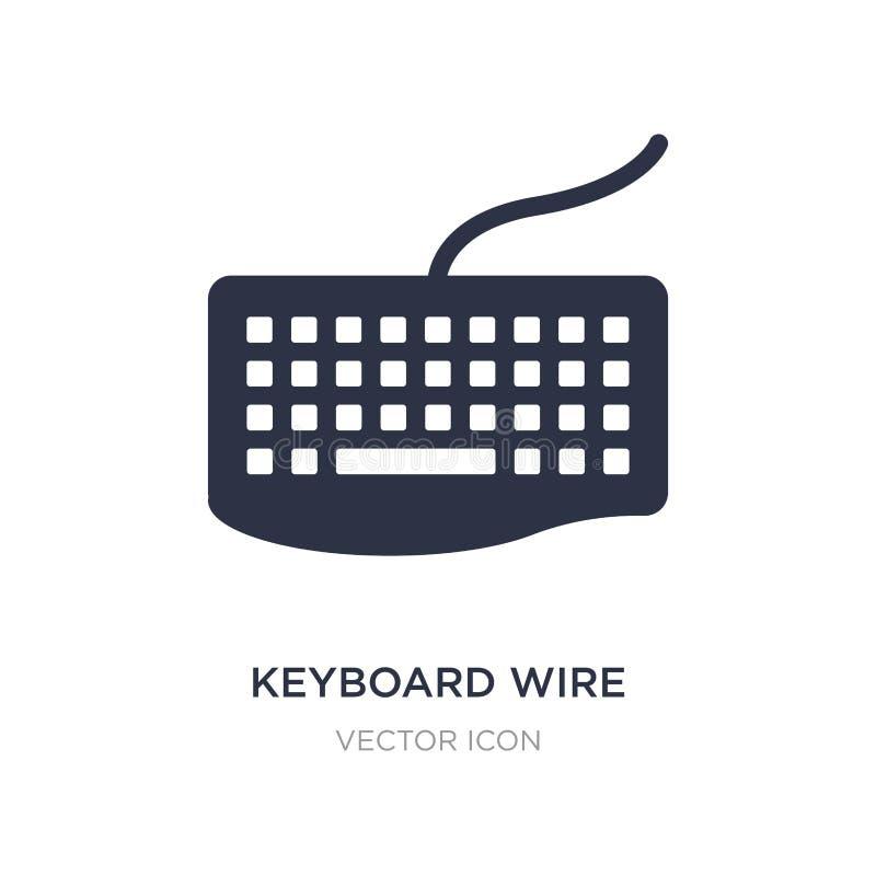 klawiatury druciana ikona na białym tle Prosta element ilustracja od narzędzia pojęcia ilustracja wektor