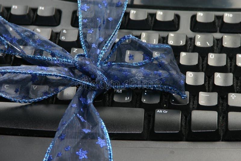 klawiatury jako prezent obraz stock