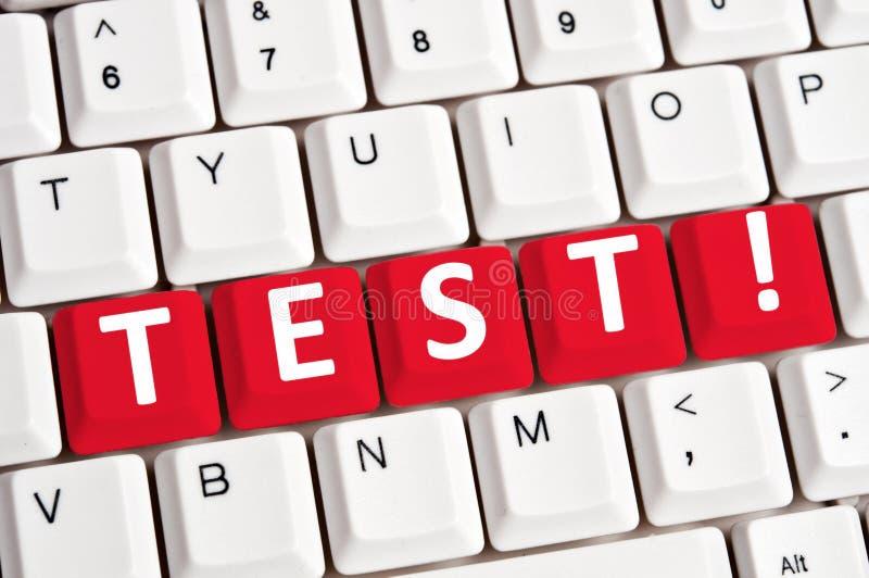 klawiatury testa słowo zdjęcie stock