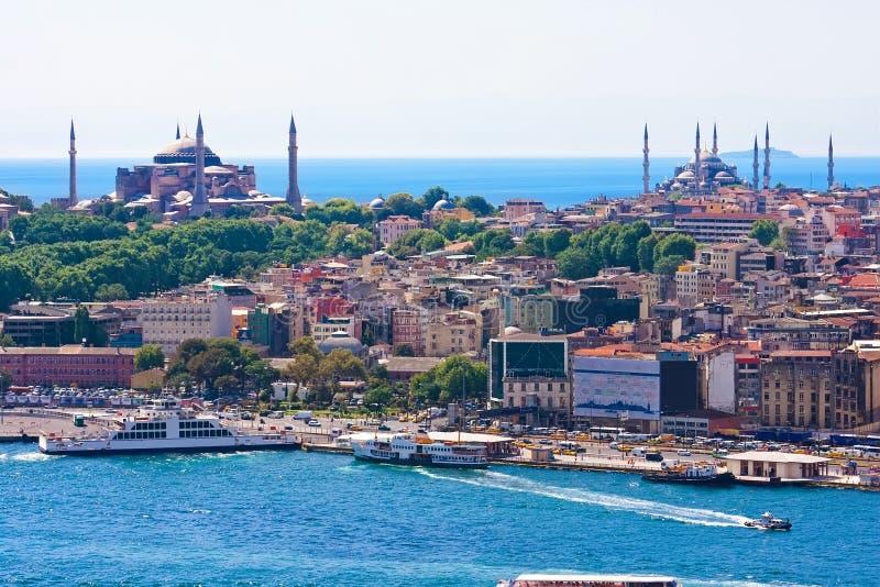 Klaxon d'or à Istanbul images libres de droits