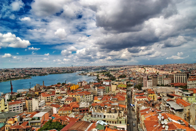 Klaxon d'or, Istanbul, Turquie images stock