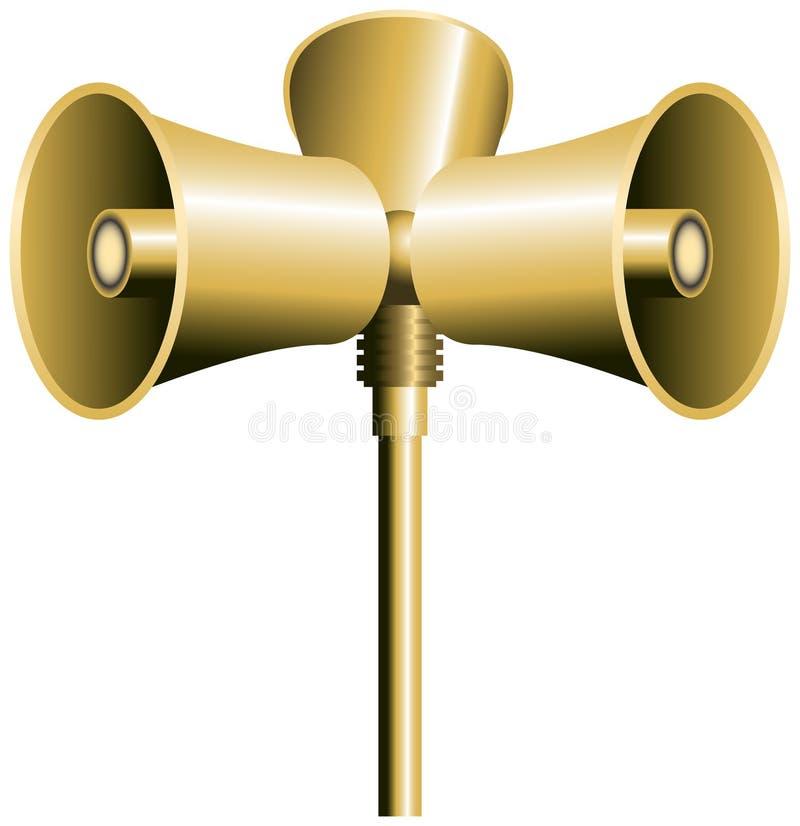 Klaxon de haut-parleur illustration libre de droits