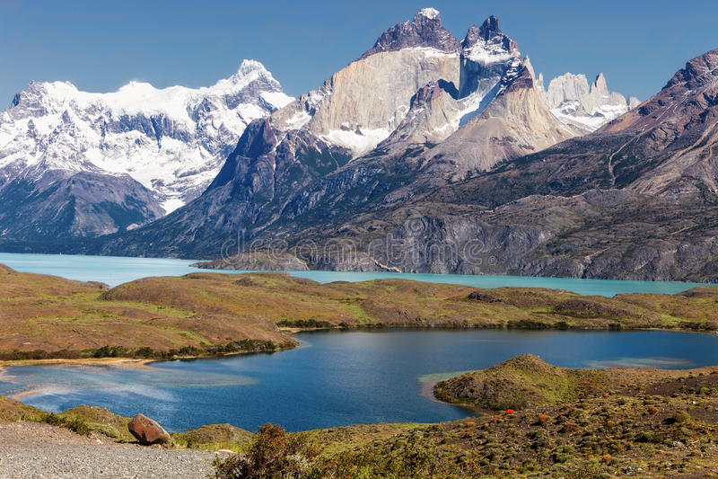 Klaxons des tours du Paine, Patagonia, Chili photo libre de droits