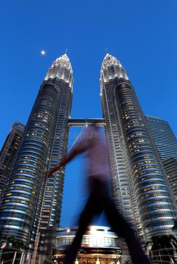KLCC 天然碱耸立孪生 马来西亚 免版税库存照片
