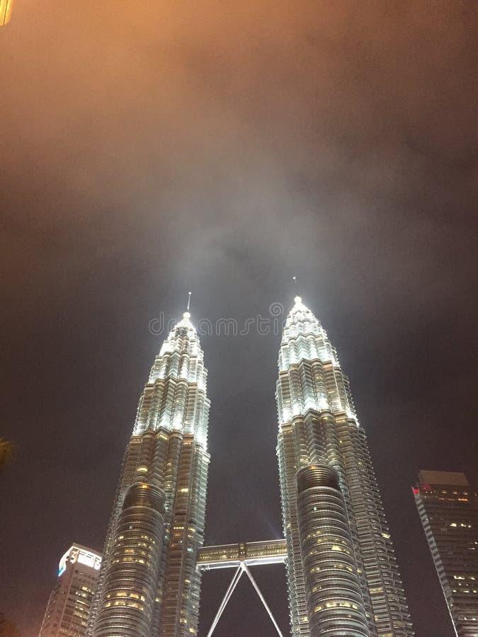 Klcc of de tweelingtoren van Petronas slechts in Maleisië royalty-vrije stock foto's