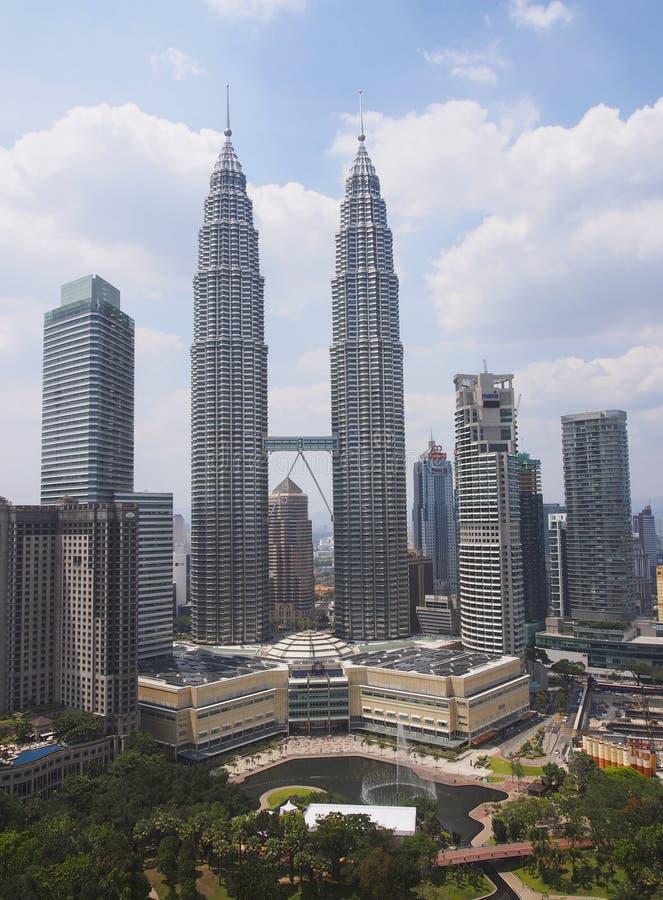 KLCC, de tweelingtorens van Petronas stock foto's