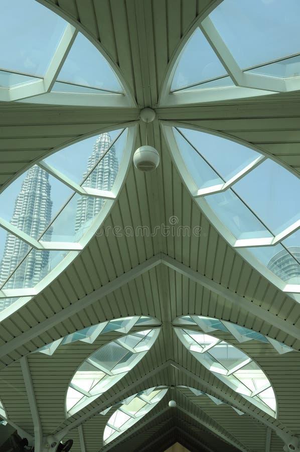 KLCC meczet jak meczet w Kuala Lumpur lub zdjęcie royalty free