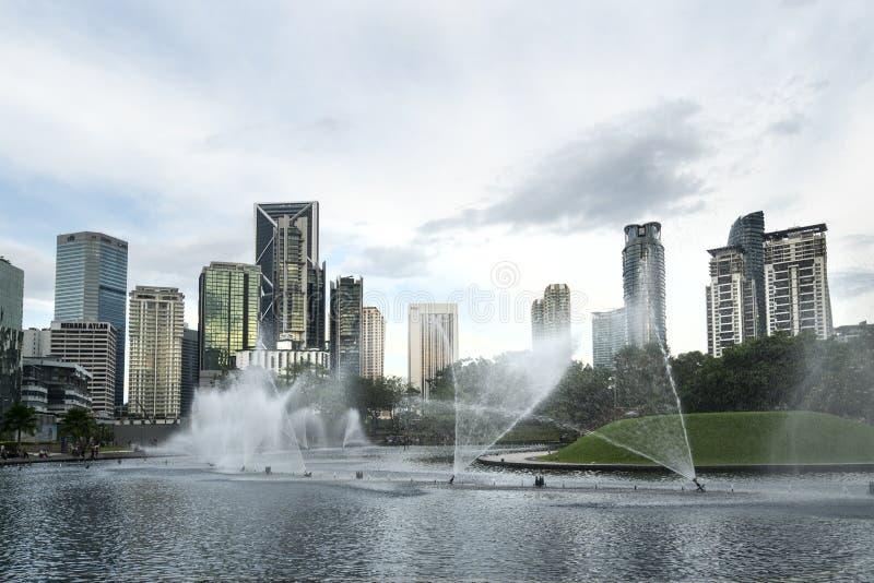 KLCC park w Kuala Lumpur zdjęcie stock