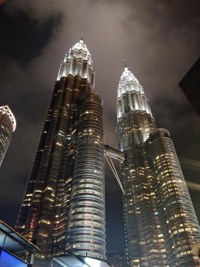 Klcc torn i Kuala Lumpur Malaysia royaltyfria bilder