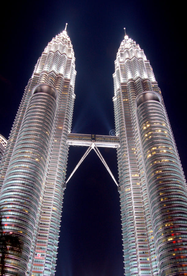 KLCC Tower, Kuala Lumpur, Malaysia. KLCC Tower at night, Kuala Lumpur, Malaysia stock photo