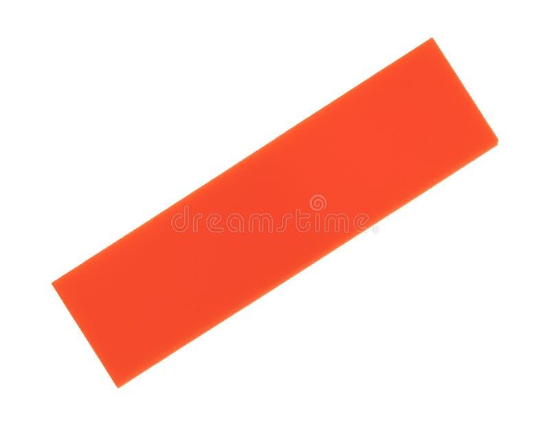 Klebende Anmerkungen der orange Mappe über einen weißen Hintergrund lizenzfreies stockbild