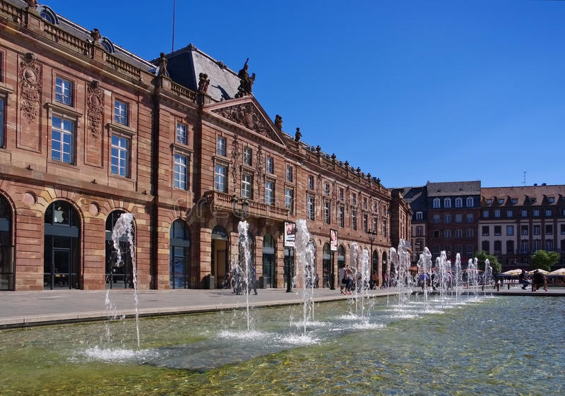 Kleber Square in Straatsburg, Frankrijk royalty-vrije stock afbeeldingen