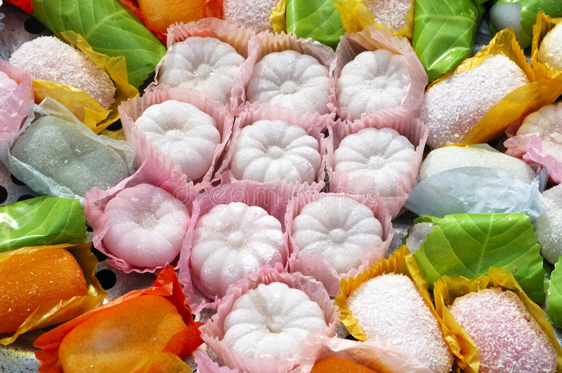 Klebriger Reiskuchen stockbilder