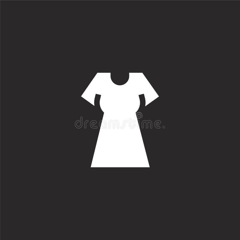 Kledingspictogram Gevuld kledingspictogram voor websiteontwerp en mobiel, app ontwikkeling kledingspictogram van de gevulde inzam royalty-vrije illustratie