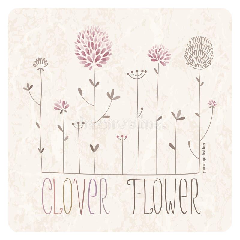 Klee-Blumen-Wiese lizenzfreie abbildung