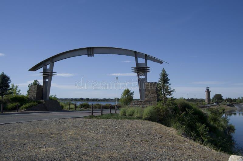 Klee-Insel Pasco Washington State stockbilder