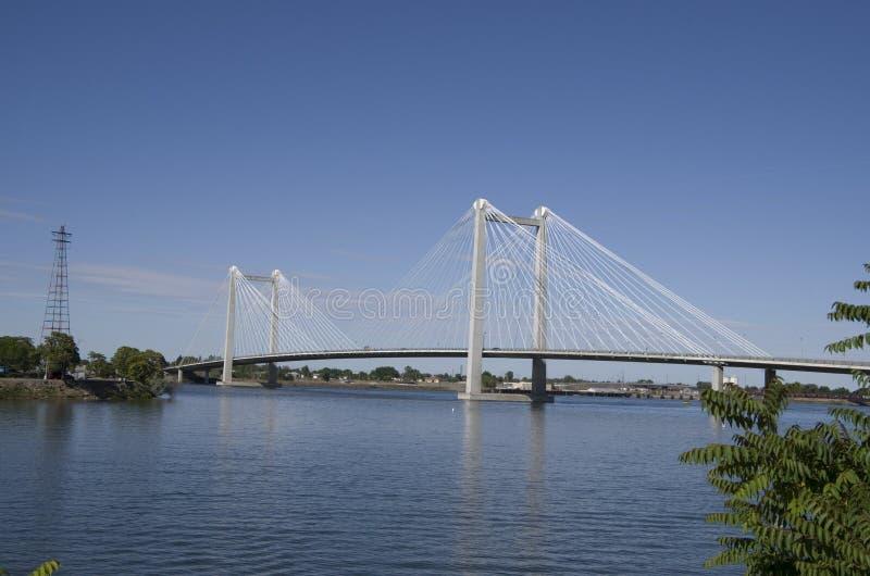 Klee-Inselflusshäuser, Columbia River lizenzfreie stockbilder