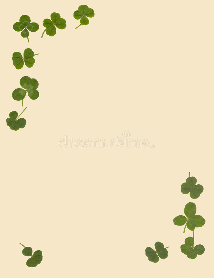 Klee mit 4 Blättern stationär