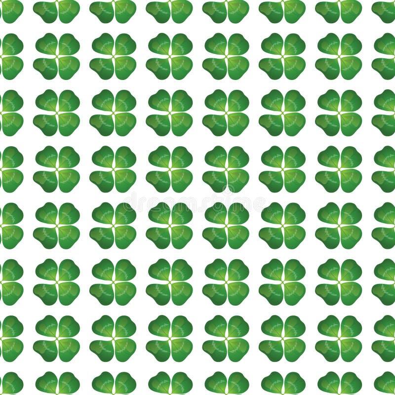 Klee mit vier Blättern nahtlos vektor abbildung