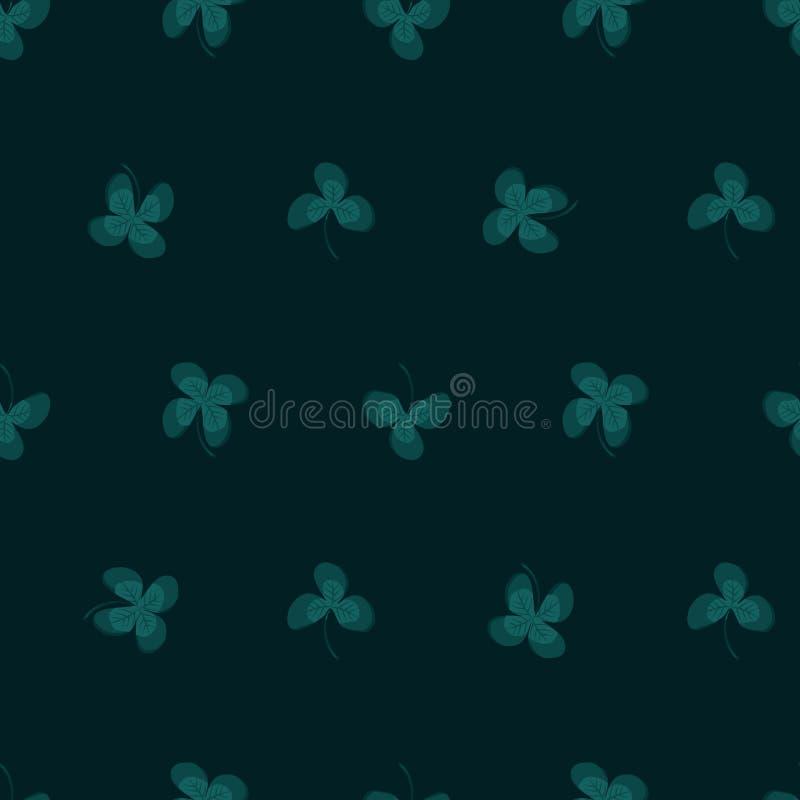 Klee treibt Hintergrund Blätter vektor abbildung
