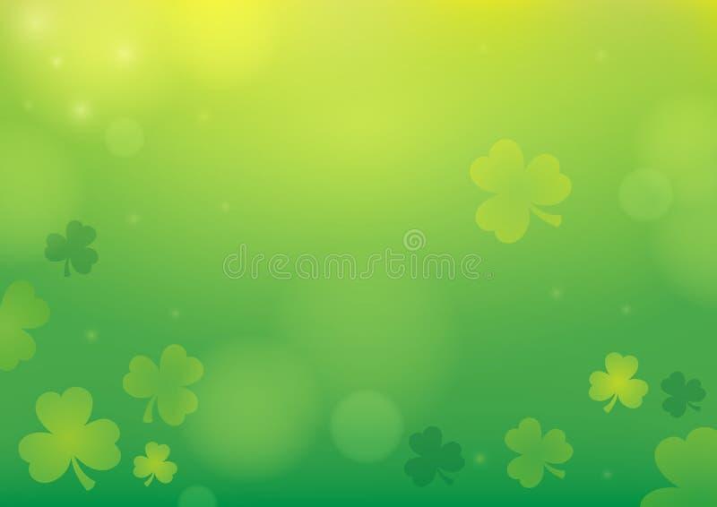 Klee-Zusammenfassungshintergrund 1 mit drei Blättern vektor abbildung
