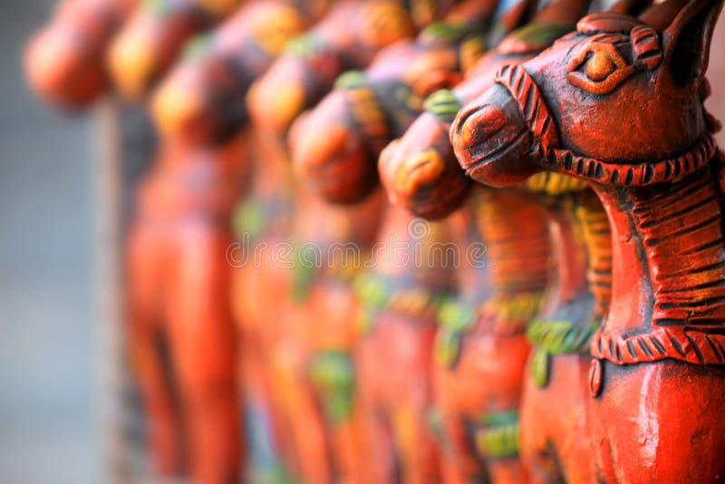 klei gemaakte ambachten in India royalty-vrije stock afbeelding
