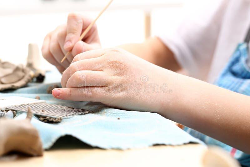 Klei voor keramiek royalty-vrije stock foto