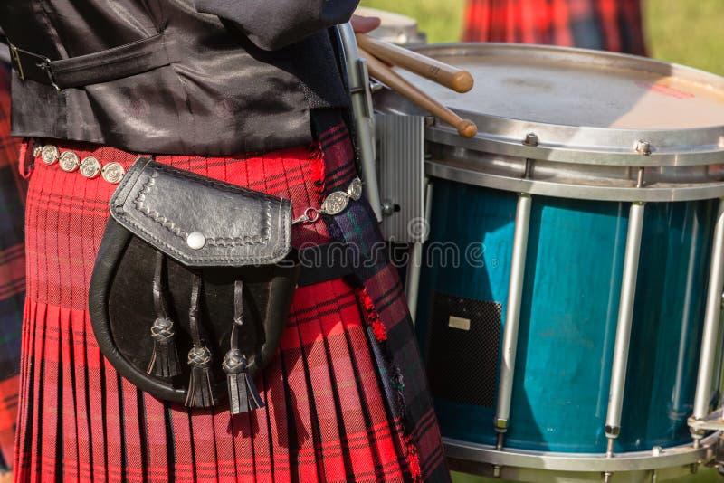 Kleid färbt schottische Band-Hochland-Versammlung lizenzfreie stockfotos