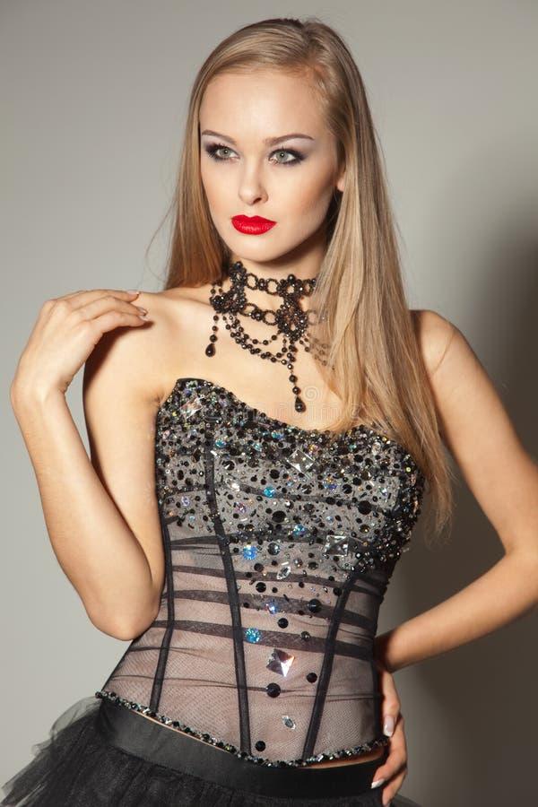 Kleid mit cristals stockfotografie