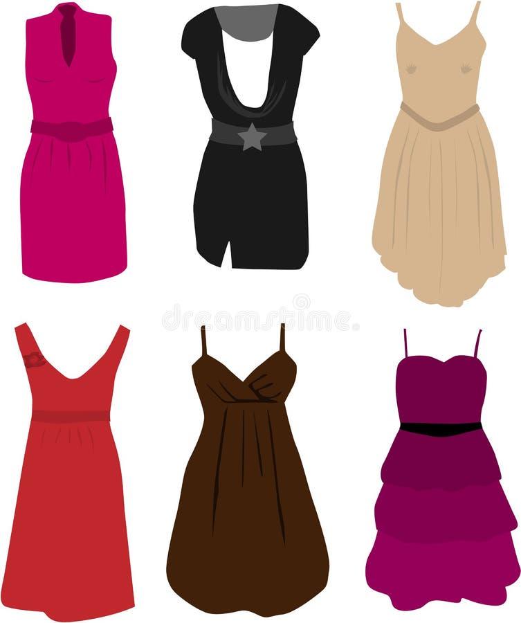 Kleiden - elegante Kleider stock abbildung. Illustration von kleider ...