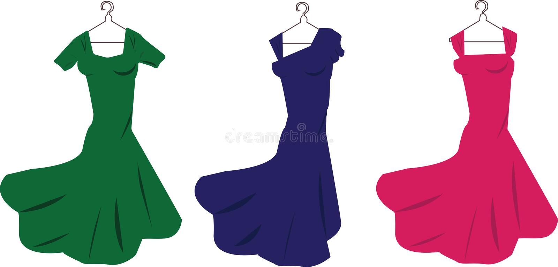 Kleider stock abbildung