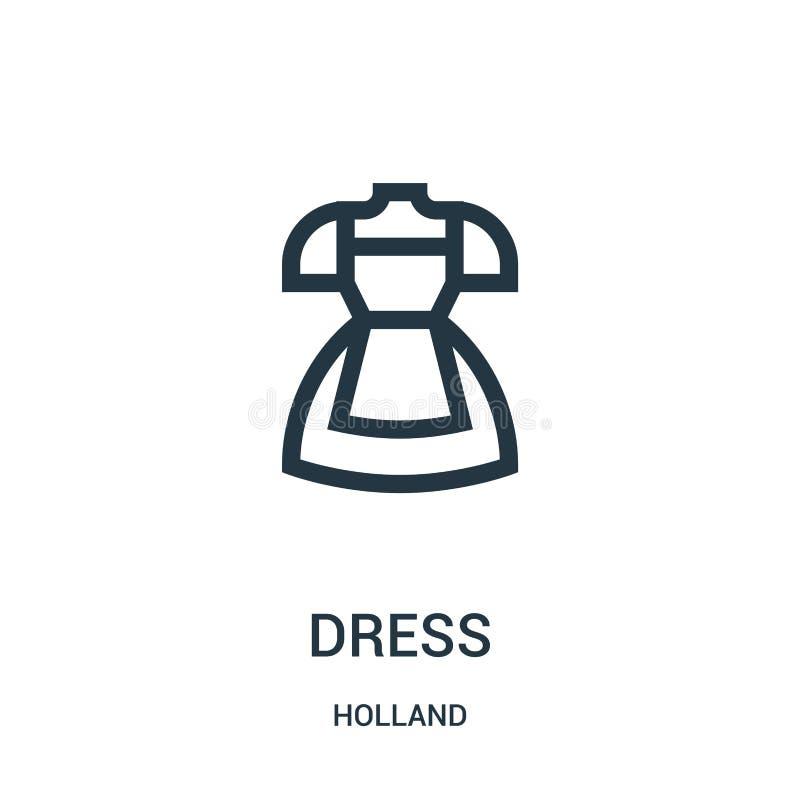 Kleiderikonenvektor von Holland-Sammlung Dünne Linie Kleiderentwurfsikonen-Vektorillustration Lineares Symbol für Gebrauch auf Ne stock abbildung