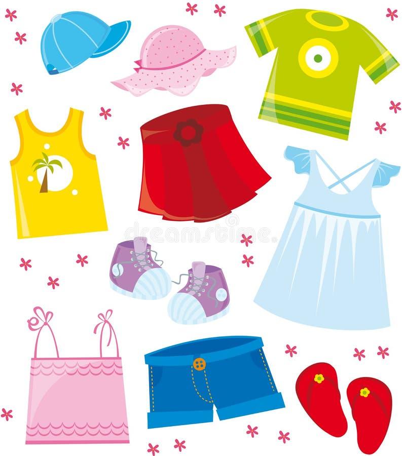 Kleidet Seriensommer vektor abbildung