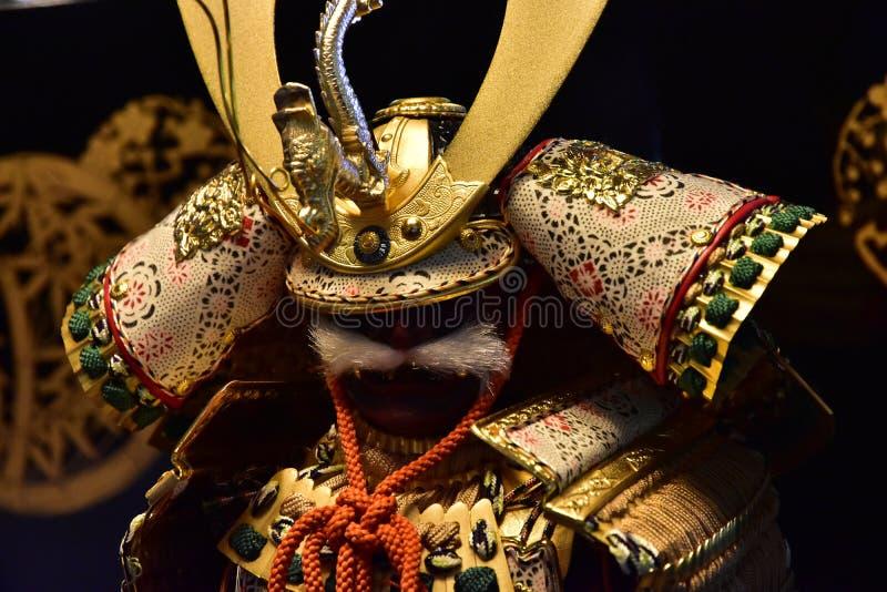 Kleidung für den Kampf der japanischen Samurais lizenzfreies stockbild