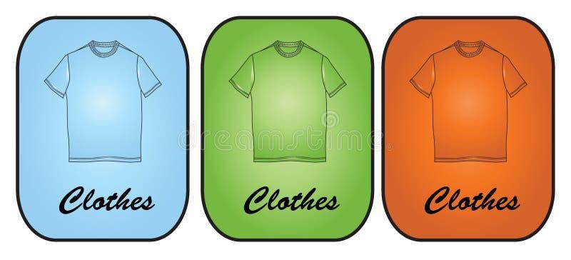 Kleidung-Fahnen-Hintergrund vektor abbildung