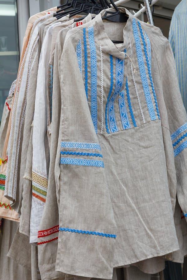 Kleidung hergestellt vom Leinen stockfotos