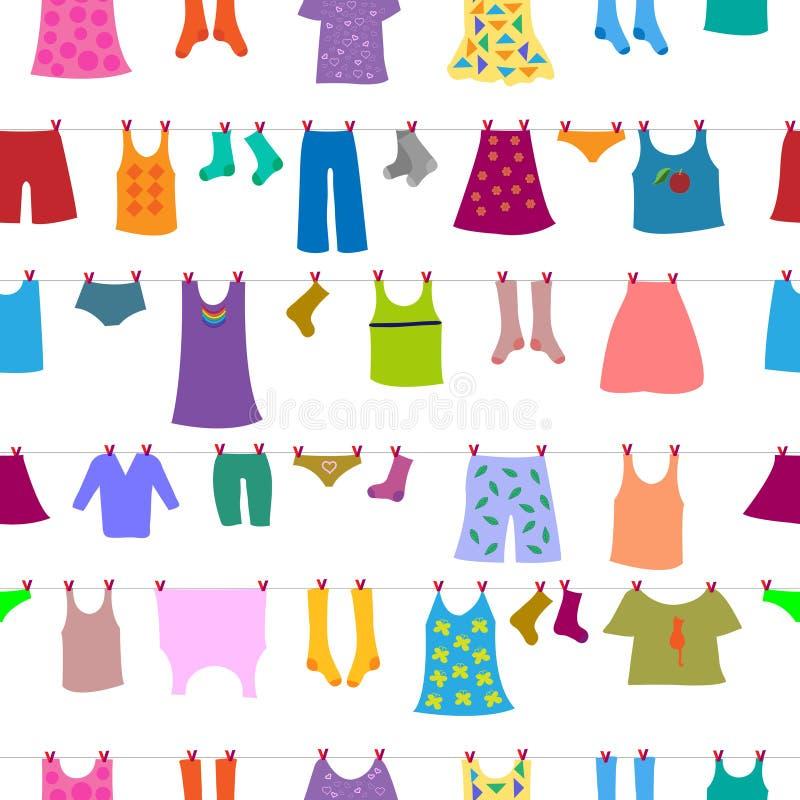 Kleidung nachdem dem Waschen lizenzfreies stockbild
