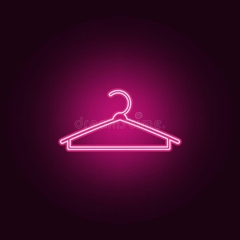 Kleidungsaufhängerikone Elemente von handgemachtem in den Neonartikonen Einfache Ikone für Website, Webdesign, mobiler App, Infor lizenzfreie abbildung