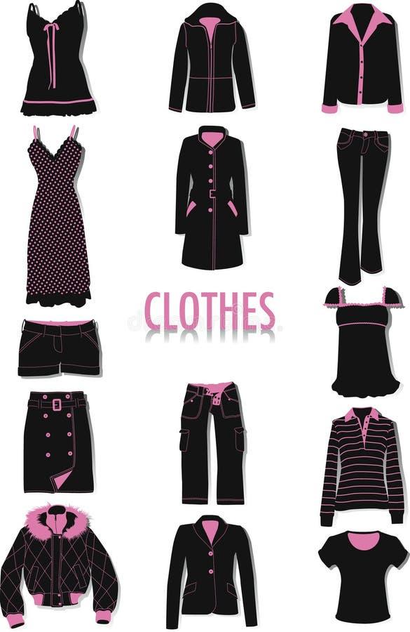 Kleidungschattenbilder lizenzfreie abbildung