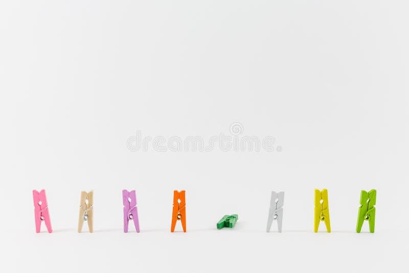 Kleidungsstift lokalisiert auf Weiß, Erfolgskonzept des Geschäfts nicht lizenzfreies stockfoto