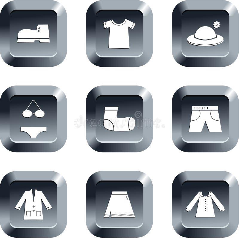 Kleidungstasten lizenzfreie abbildung