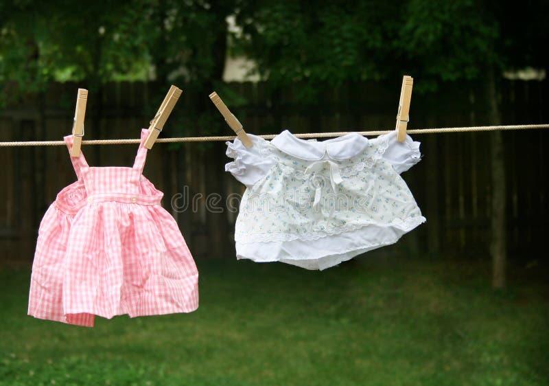 Kleidungzeile stockbilder