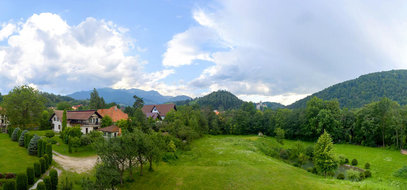 Kleie-Schloss-Ansicht stockfoto